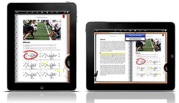 Screenshot of Digital Playbook on iPad