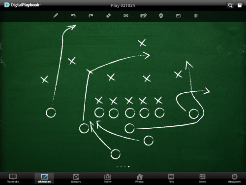 Digital Playbook logo for sports teams using iPad