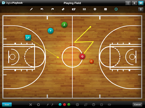 Digital Playbooks Basketball App